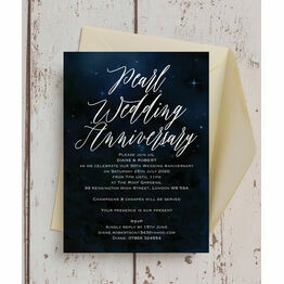 Starry Night 30th / Pearl Wedding Anniversary Invitation