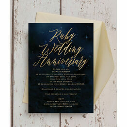 Starry Night 40th / Ruby Wedding Anniversary Invitation