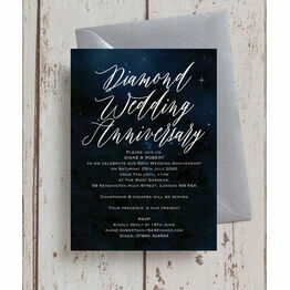 Starry Night 60th / Diamond Wedding Anniversary Invitation
