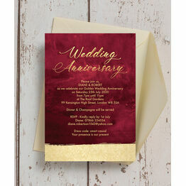 Burgundy 50th / Golden Wedding Anniversary Invitation