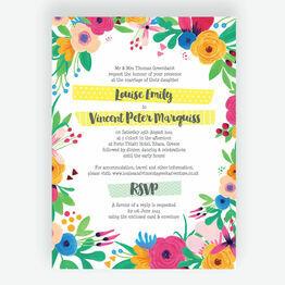 Floral Fiesta Wedding Invitation