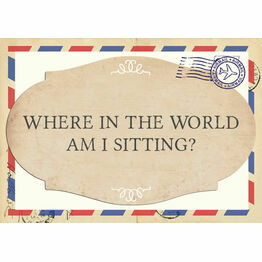 'Where in the World Am I Sitting?' Airmail Table Plan Sign