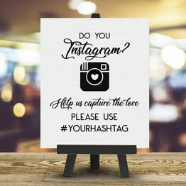 Personalised Wedding Hashtag Instagram Sign
