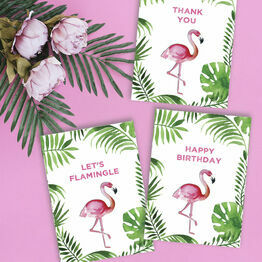Flamingo Personalised Name Cards
