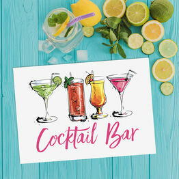 Cocktail Bar Wedding / Party Printable Sign