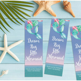 Mermaid Bookmark Printable Party Favours