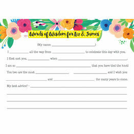 Floral Fiesta 'Mad Libs' Wedding Advice Card