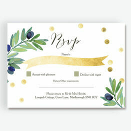 Olive Wreath RSVP