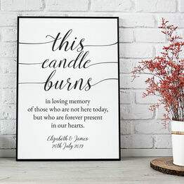 In Loving Memory' Wedding Remembrance Candle Print