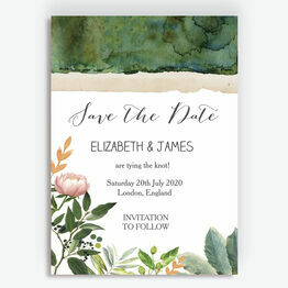 Flora Wreath Save the Date