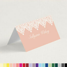 Classic Folded Wedding Place Cards (Any Colour)