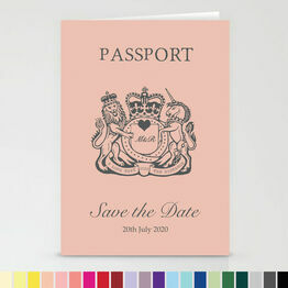 Passport Travel Themed Wedding Save The Date