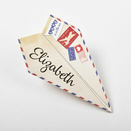 Paper Airplane Wedding Place Cards