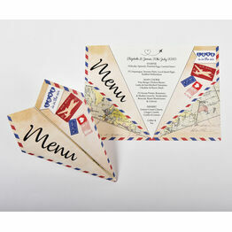 Paper Airplane Wedding Menu