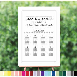 Modern Minimalist Wedding Seating Plan
