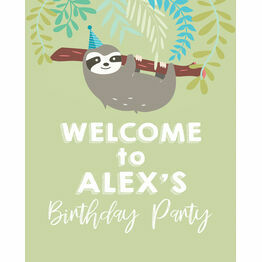 Sloth Party Welcome Sign