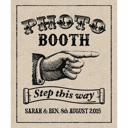 Rustic Kraft Personalised Printable Photo Booth Sign