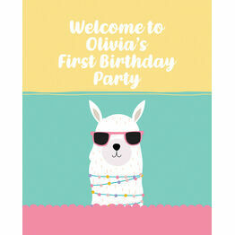 Llama Party Welcome Sign