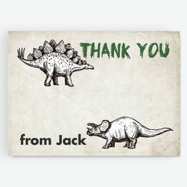 Jurassic Dinosaur Thank You Card