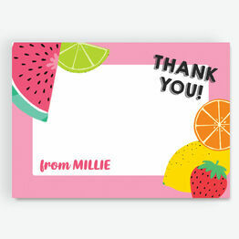 Pink Tutti Frutti Thank You Card