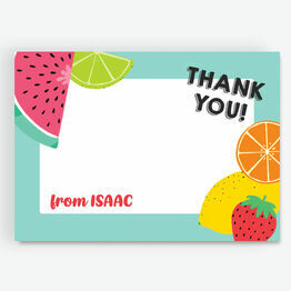 Aqua Tutti Frutti Thank You Card