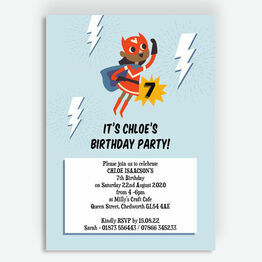 'Super Girl' Birthday Party Invitation