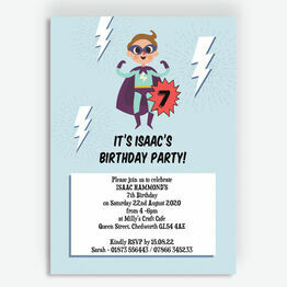 'Super Boy' Birthday Party Invitation