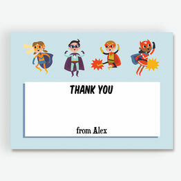 Superheroes Thank You Card