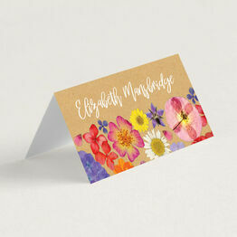 Pressed Flowers Place Cards