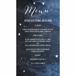 Midnight Stars Menu