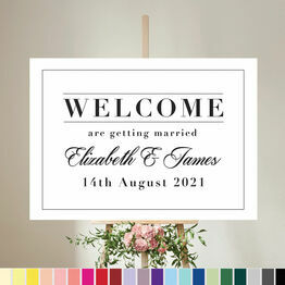 Modern Minimalist Wedding Welcome Sign