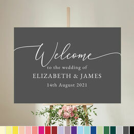 Calligraphy Inspired Wedding Welcome Sign