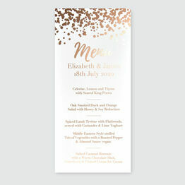 Confetti Foil Wedding Menu
