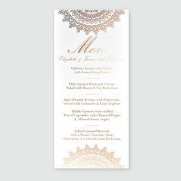 Mandala Foil Wedding Menu