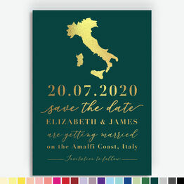 Italy Foil Printed Destination Save the Date