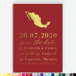 Mexico Foil Printed Destination Save the Date