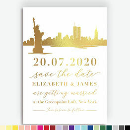 New York City Foil Printed Save the Date