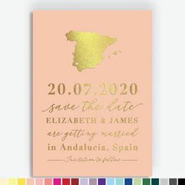 Spain Foil Printed Save the Date
