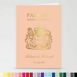 Foil Printed Passport Wedding Invitation