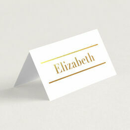 Bold Real Foil Printed Wedding Place Cards