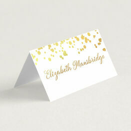 Confetti Real Foil Printed Wedding Place Cards