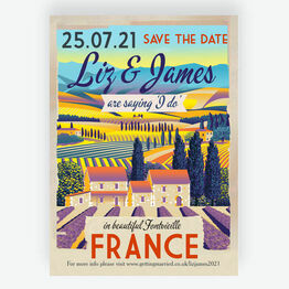 Provence / South of France Destination Wedding Save the Date