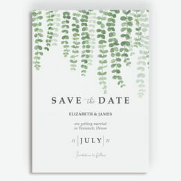 Eucalyptus Save the Date