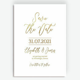 Minimal Foil Save the Date