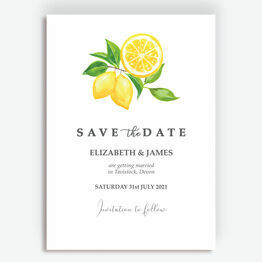 Watercolour Lemons Save the Date