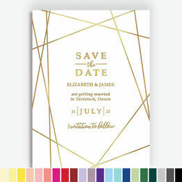 Foil Printed Geometric Save the Date
