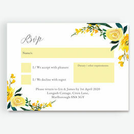 Yellow Floral RSVP