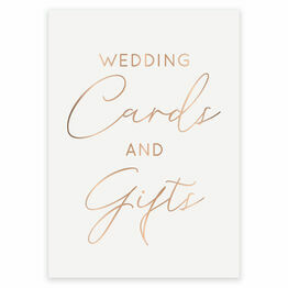 Real Foil Wedding Cards & Gifts Sign