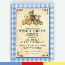 Teddy Bears' Picnic Kids Party Invitation