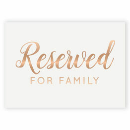 Real Foil Wedding Reserved Sign